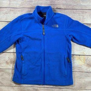 North Face Full Zip Blue Fleece Boys SZ s